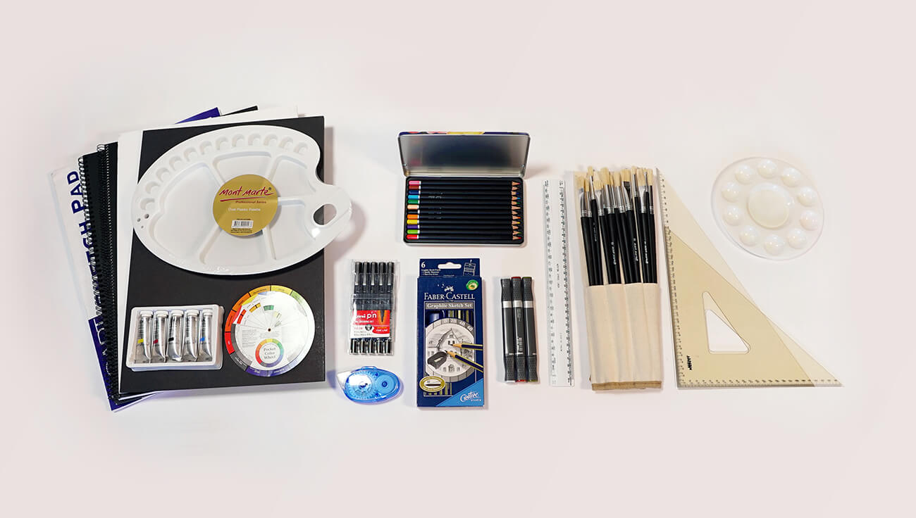 As A Student Of The MSF50213 Diploma Of Interior Design And Decoration  Youu0027ll Receive A Professional Art Kit Throughout The Course.
